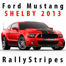 2013 Ford Mustang SHELBY Decal Kit Rally Stripes Pre cut Twin Racing stripe