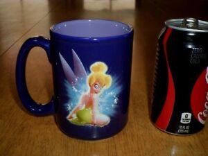 WALT-DISNEY-TINKERBELL-3-D-LOGO-IMAGE-Ceramic-Coffee-JUMBO-Sized-Mug-Vintage