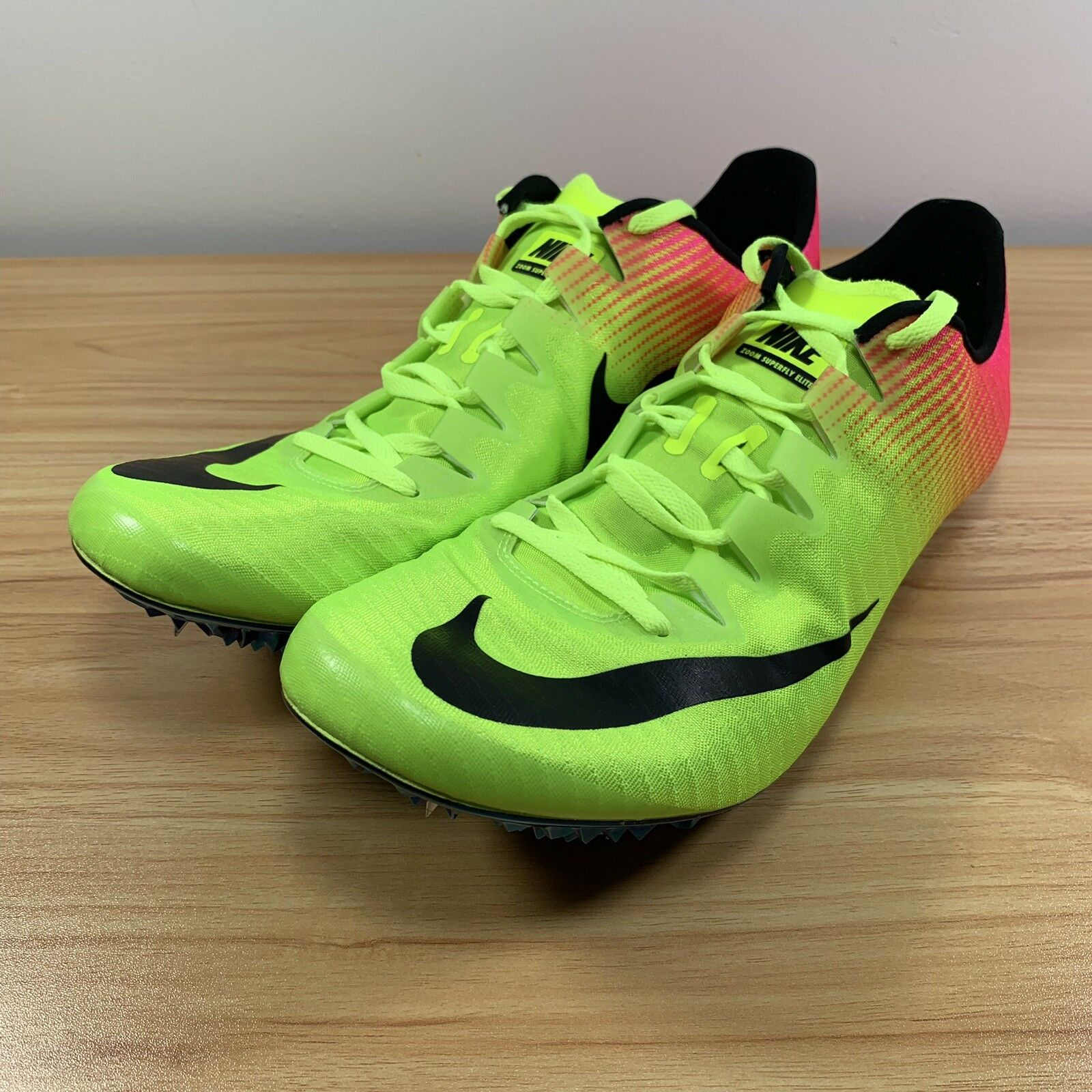 sports shoes 6a039 088bf Nike Zoom Superfly Elite Elite Elite Racing Spikes Size 13 Rio Olympics  Volt Pink 835996-