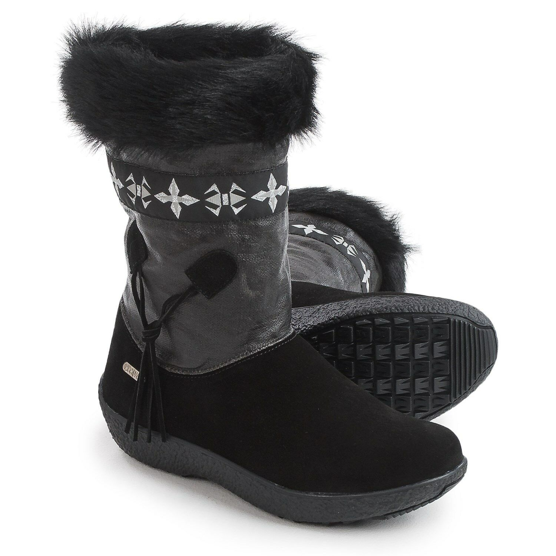 New in box Womens Tecnica Skandia Sport Mid Boots Suede Black Size 7