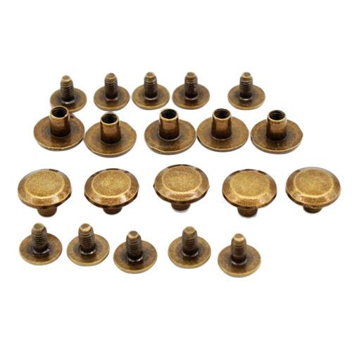 10X5mm Gürtelschrauben 10 Leder Gürtel Handwerk Nieten Schrauben Nagel
