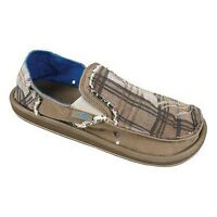 Sanuk Shoes Sandals - Kerouac Brown UK 7 - Sidewalk Surfer, Slip On, SMF1011