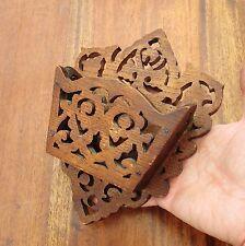 Antique Oak Arts & Crafts Wooden Wall Plaque - Bits & Bobs Holder - Circa 1900