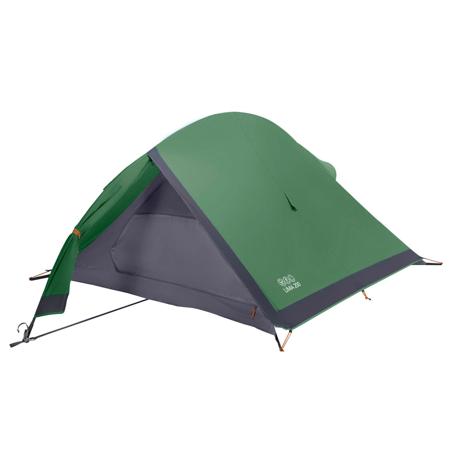 2 Mann Zelt VANGO Lima 200 Trekkingzelt für 2 Personen Fahrradzelt Camping Zelt