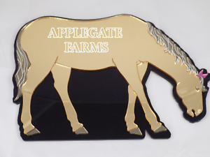 Personalized-Horse-Wall-Plaque-Engrave-Your-Name-FREE-Mirrored-Wall-Art