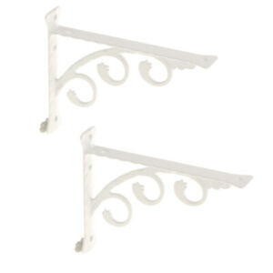 L-Shape-Wall-Mounted-Shelf-Bracket-Hanging-Shelve-Holder-White-15x20cm-2-Set