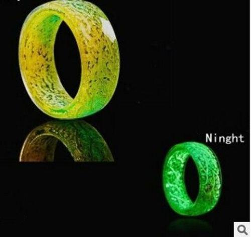 Leuchtender Leuchtring-Leuchtend im Dunkeln Schmuck Ringe für Damen /& Herren