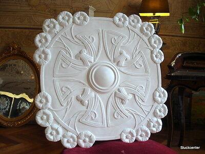 Stuckrosette 100-436- wunderschöne große Jugendstil -Stuck Rosette ca 76 x 76cm