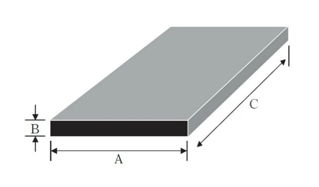 """Aluminium Flat Bar / Plate widths from 80mm to 4"""" many thicknesses and lengths"""