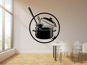 Vinyl-Wall-Decal-Kitchen-Pot-Cooking-Cuisine-Soup-Stickers-Mural-g618