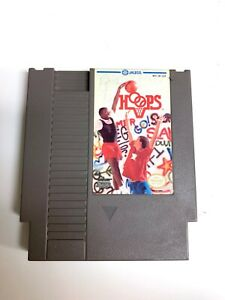 Hoops-ORIGINAL-NINTENDO-NES-Basketball-Game-Tested-Working-amp-Authentic