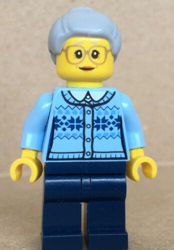 LEGO ®-Minifigur City Town Großmutter Oma Grandmother Set 60155 Advent hol106