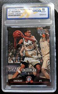 Details About 1997 The Score Board 61 Tim Duncan Rookie Card Rc San Antonio Spurs Wcg 10 Gem