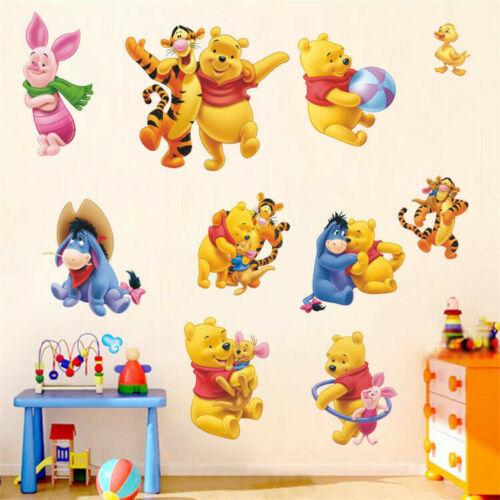Cartoon Winnie The Pooh Wall Stickers Vinyl Baby Room Decor Decals DIY Nursery