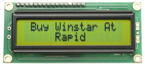Winstar WH1602B-NYG-JT 16x2 Pantalla LCD Reflectante