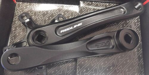 Redline Microline Crank Arm Set  Square taper 110mm B.C.D Black