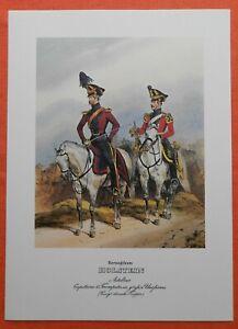 Artillerie Capitaine Trompettiste Uniforme Herzogthum Holstein Monten Pierre Pression 1978-afficher Le Titre D'origine Pure Blancheur