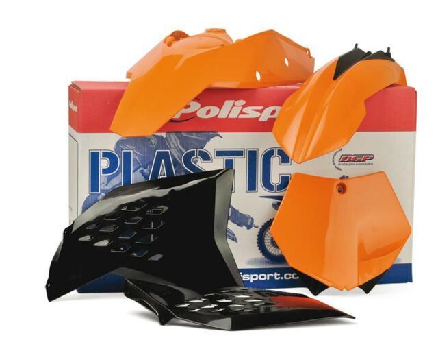 Polisport Plastics Kit Black KTM 200 250 450 SX EXC 03-04