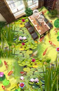 3D Anime Koi Pond 743 Floor WallPaper Murals Wall Print Decal AJ WALLPAPER US