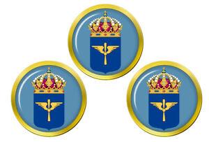 Flygvapnet-Suedois-Air-Force-Marqueurs-de-Balles-de-Golf