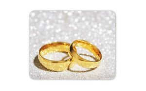 Beautiful Wedding Rings Mouse Mat Pad Ring Wedding Present Gift Computer #8676