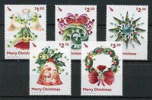 New-Zealand-NZ-2017-MNH-Christmas-Decorations-Baubles-5v-Set-Seasonal-Stamps