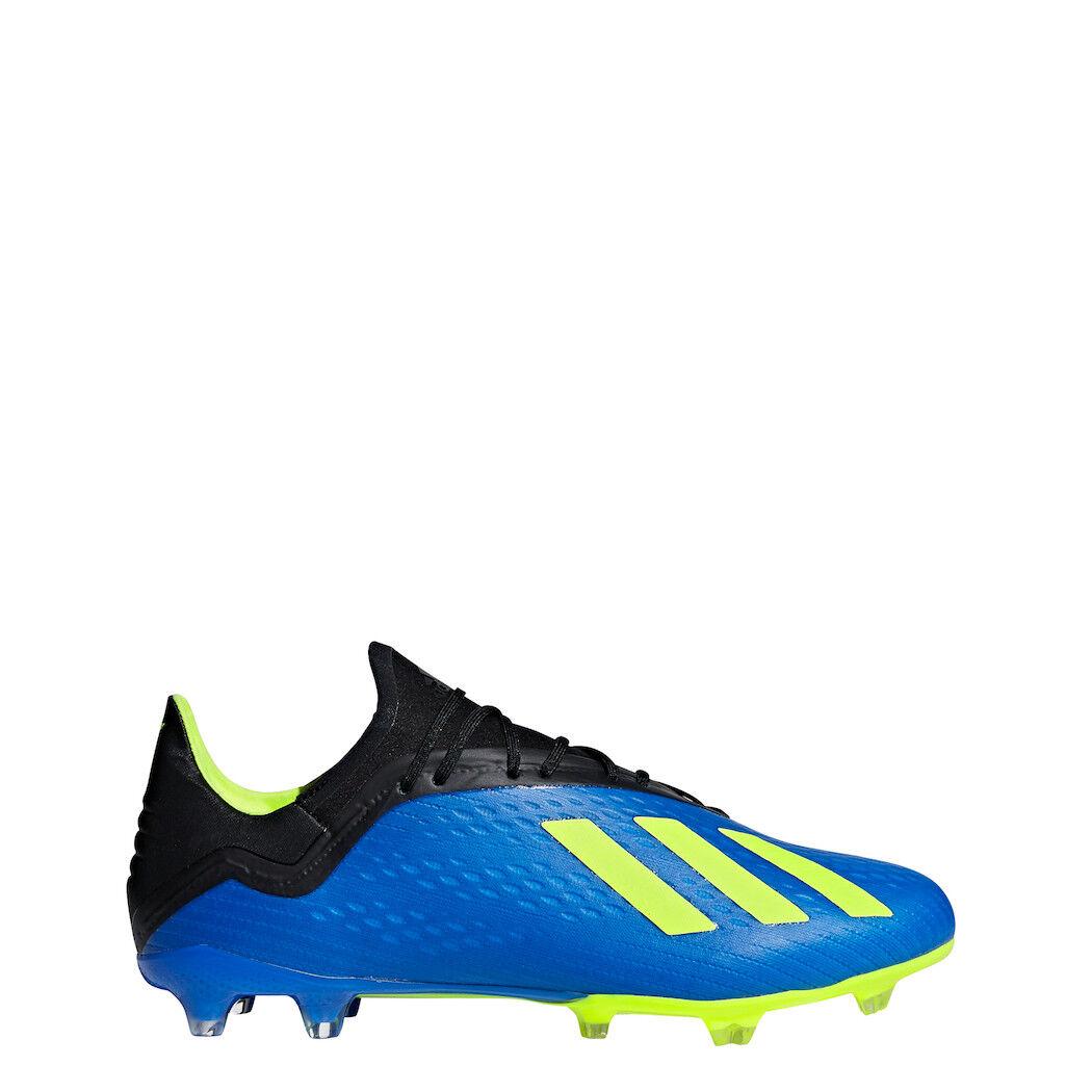 Adidas X 18.2 FG Fußballschuhe blau schwarz gelb