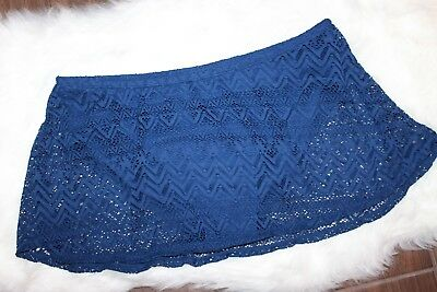 Catalina Swim Skirt Bottom Blue Fire Crochet