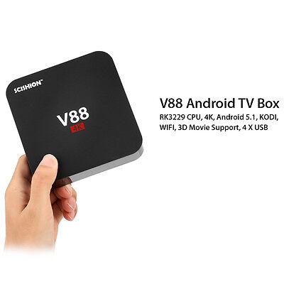 V88 HD Android 6.0 Smart TV Box RK3229 4K Quad Core 16.1 8GB WiFi Media Player