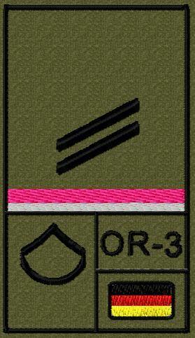 reservistas soldado Bundeswehr rango insignia velcro con galon señor el soldado Oa