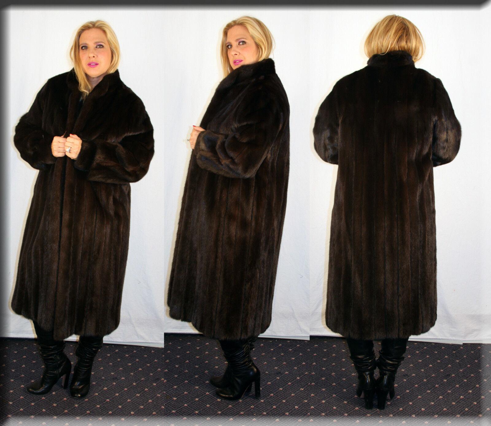 New Ranch Mink Fur Coat Size Medium 6 8 M Efurs4less