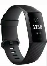 FIBIT CHARGE 3 Fitness Activity Tracker - Touchscreen, Swim Proof. BLACK. NEW