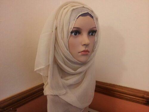 Ladies Womens Plain RAYON Large Maxi Scarf Hijab Shawl Sarong Wrap light*VISCOSE