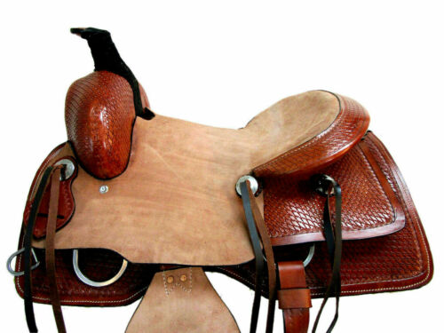 """Inch Barrel Racing Horse Saddle Size: Details about  /New Leather Western Saddle 12/"""" To 18/"""""""