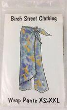 Birch Street Sewing Pattern Tie Wrap Pants Sarong Retro Boho Look XS XXL Uncut
