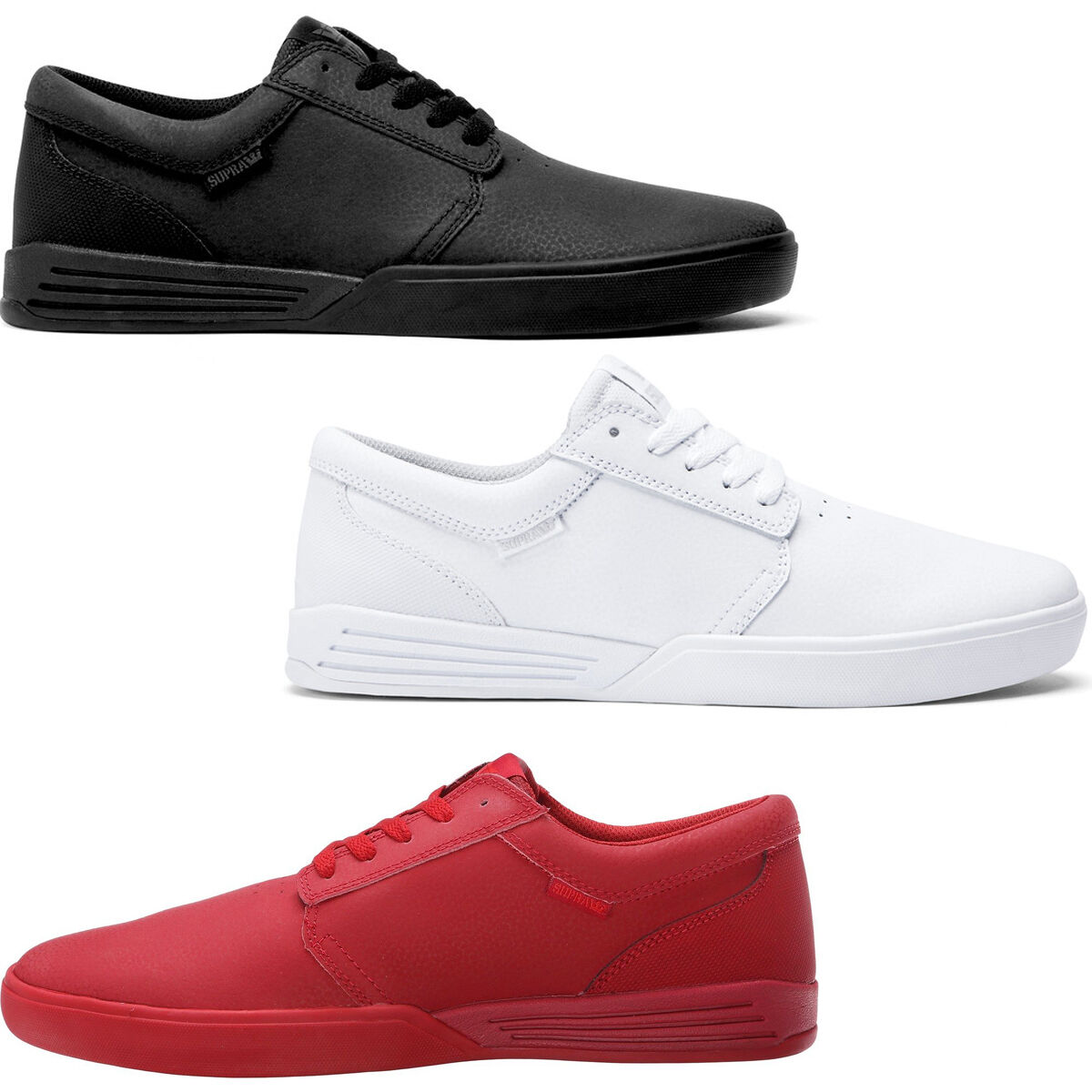 shoes SUPRA HAMMER SNEAKERS RED FOOTWEAR SHOES SCARPA HIGH TRAINER NEW BLACK