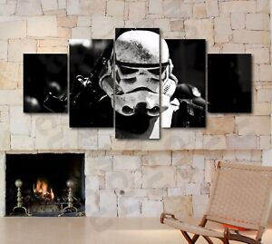 large sized star wars stormtrooper five piece canvas print poster