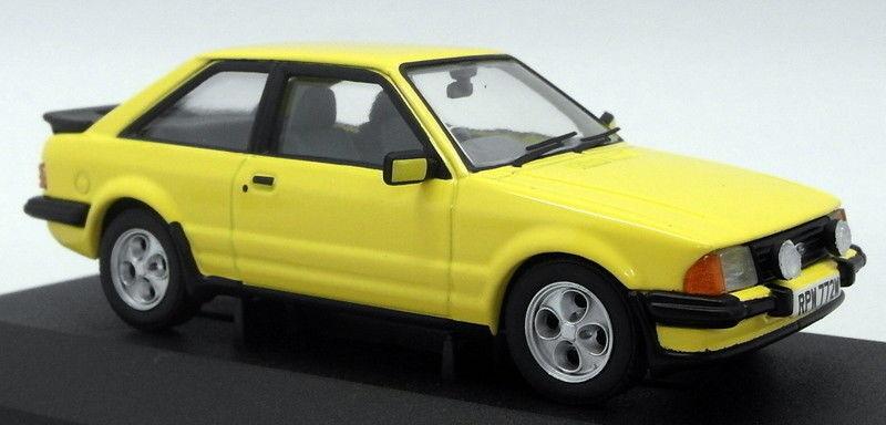 Vanguards 1 43 Scale Model Car VA1101 - Ford Escort Mk3 XR - Prarie Yellow