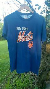 VINTAGE 80s NEW YORK METS t shirt L Logo 7 MLB Baseball Large mens ... 7a8e8173d