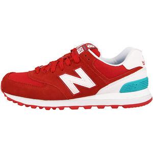 New-Balance-Wl-574-CNC-women-Zapatos-Rojo-Blanco-Ozone-Azul-wl574cnc