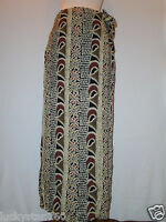 India Browm Floral & Paisly Full Skirt Size Small