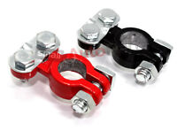 2 Color Coded Post Battery Terminals Red Positive Black Negative For Car/truck