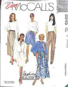 McCall/'s 8452 Misses/' Top Pull-On Pants and Skirt