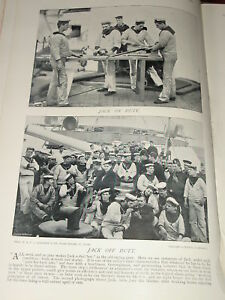 1896-SAILORS-AT-WORK-OFF-DUTY-MARINES-ETC