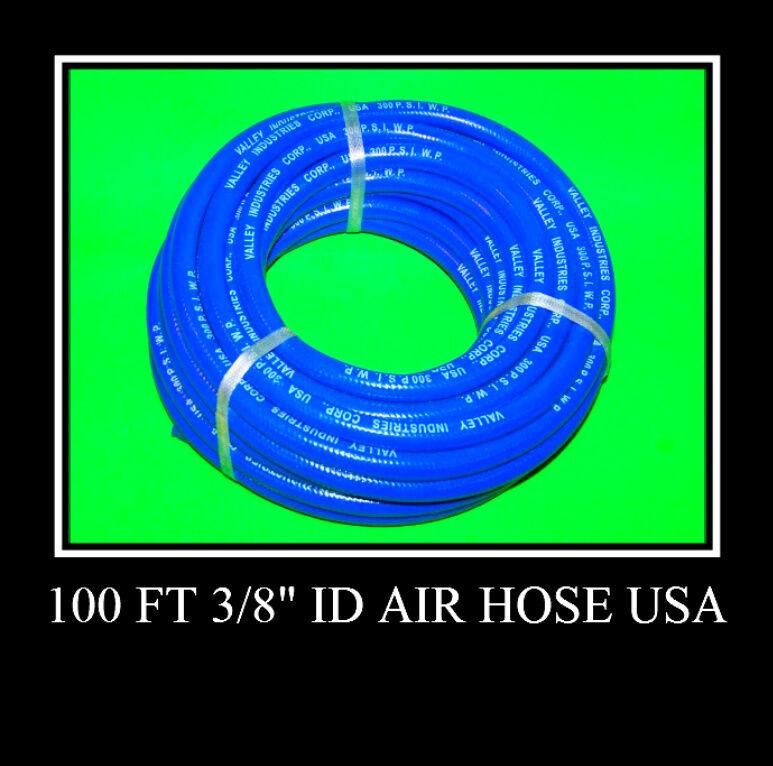2 NEW 100 Ft 3 8  ID Air Hose 300 psi Air Tool USA