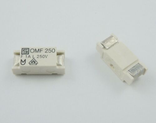 2Pcs SCHURTER 11 x 4.6 mm Quick Acting OMF 250 SMT Surface Mount Fuse 250V F 1A