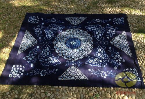 """Main Indigo Tie Dye Rural Style Nappe De Table Housse Feuille Tapisserie 95/""""L x78/""""W"""