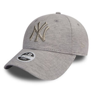 New Era Womens Essential Jersey 9Forty New York Yankees Cap Grey ... 0d6100b5c8