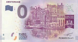 A 2017-1 Billet 0 Euro Souvenir - Pe Nh - Pays-bas Amsterdam