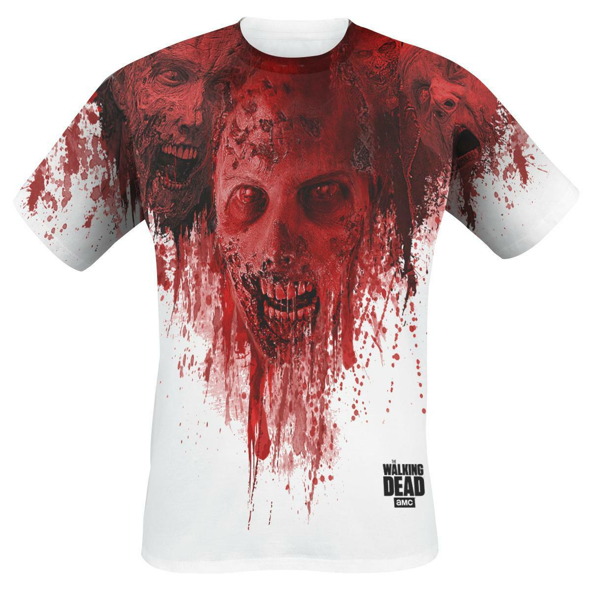 OFFICIAL LICENSED - WALKING DEAD - WALKERS SUBLIMATION T SHIRT DARYL ZOMBIE